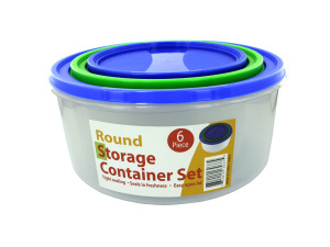 Round Storage Container Set with Lids