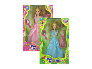Wholesale: Cutie play doll with accessories