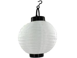 Solar-powered hanging lantern