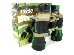 Wholesale: Camouflage binoculars with compass and pouch