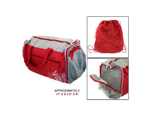 Wholesale: Red duffle bag