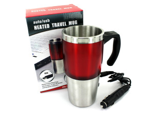 Wholesale: Heated travel mug with auto/USB hubs
