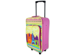 "Wholesale: 17"" pink rolling bag"