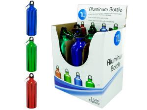 Wholesale: 1 Liter Aluminum Bottle Countertop Display