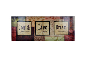 Cherish / Live / Dream Canvas Art