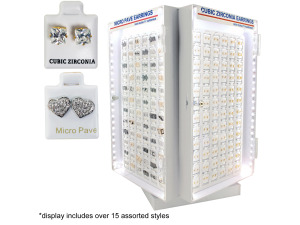 Wholesale: Cubic Zirconia / Micro Pave Earrings Light Up Display