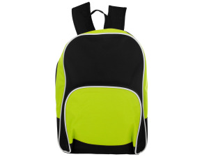 Lime Green and Black Canvas Backpack