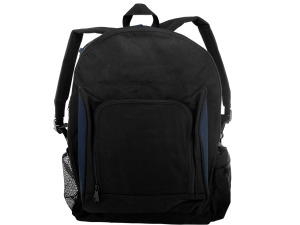 Black and Navy Canvas Backpack