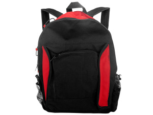 Black and Red Canvas Backpack