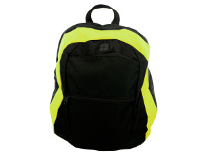 Black and Lime Canvas Backpack
