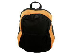 Black and Orange Canvas Backpack