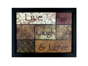 Live Laugh & Love Framed Word Art