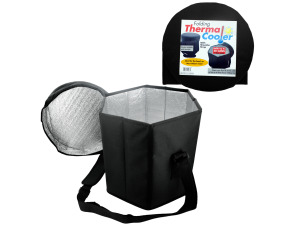 Wholesale: Folding Thermal Cooler with Shoulder Strap