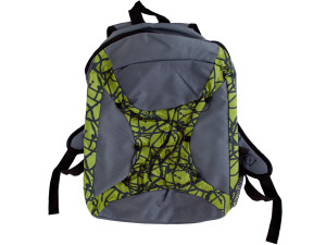 Grey/green backpack
