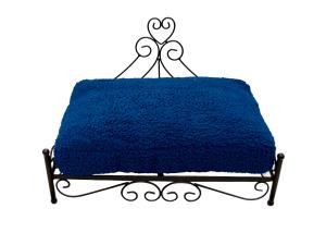Wholesale: Raised heart pet bed blue