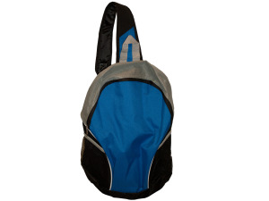 Blue/Black Sling Strap Backpack with Mesh Pockets