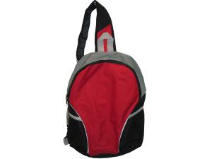 Red/Black Sling Strap Backpack with Mesh Pockets