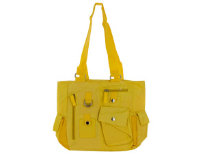 Yellow Ripstop Handbag with Pockets