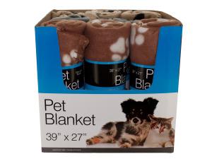 Wholesale: Paw Print Pet Blanket Countertop Display