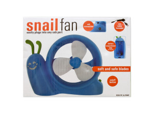 Wholesale: Battery Operated Snail USB Fan
