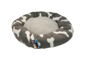 Wholesale: Round Grey Bone Print Pet Bed