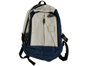 Grey/Blue Backpack with Padded Straps