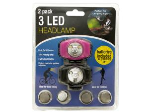 Wholesale: 3 LED Headlamp Set