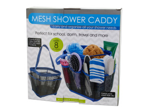 Wholesale: Mesh Shower Caddy with 8 Side Pockets