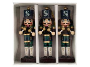 Seattle Mariners Nutcracker Ornament Set