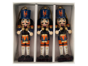 New York Mets Nutcracker Ornament Set