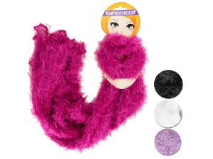 Fluffy Crocheted Fashion Scarf