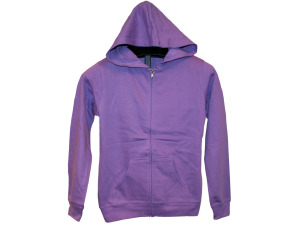 Juniors' Medium Orchid Zip Hoodie