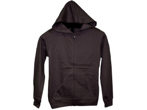 Boys' Medium Cocoa Zip Hoodie