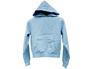 Juniors' Medium Light Blue Pullover Hoodie