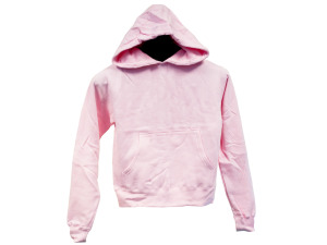 Juniors' Medium Pink Pullover Hoodie