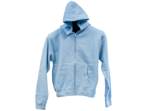 Medium Light Blue Zip Hoodie