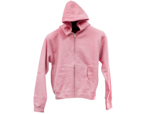 Extra Small Pink Zip Hoodie