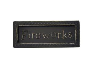 Wholesale: Fireworks Mini Metal Sign Magnet