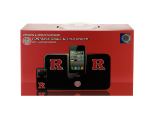 Wholesale: Collegiate Licensed Rutgers University Portable IDock Stereo System