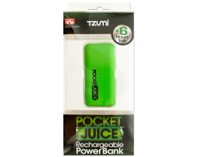 Green Pocket Juice Rechargeable Power Bank