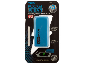Blue Pocket Juice Rechargeable Power Bank