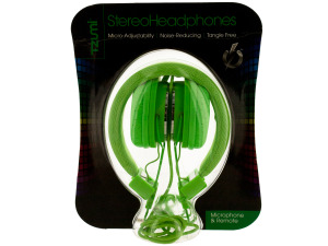 Green Foldable Headphones with Microphone & Remote
