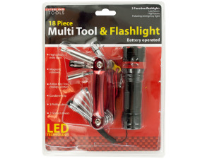 Multi Tool & 3 Function Flashlight Set