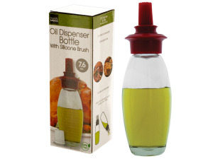 Wholesale: 7.6 oz. Oil Dispenser Bottle with Silicone Brush