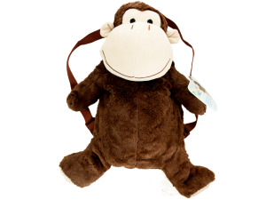 Plush Monkey Backpack