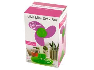 Wholesale: USB Mini Flower Shape Desk Fan