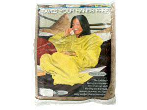 Super Soft Fleece Snuggle Blanket with Sleeves