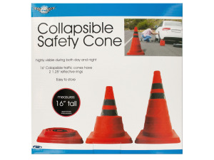 Collapsible Traffic Safety Cone with Reflective Rings
