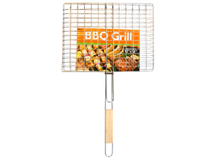 Wholesale: Barbecue Grill Basket with Wood Handle