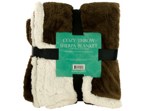 Cozy Coral Fleece & Heavy Sherpa Throw Blanket